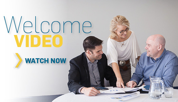 Welcome video. Watch now.